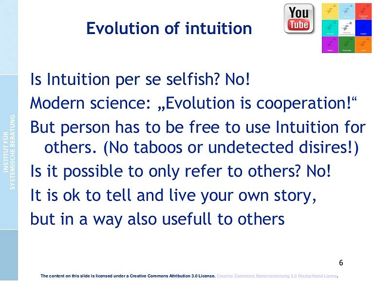 Evolution of Intuition